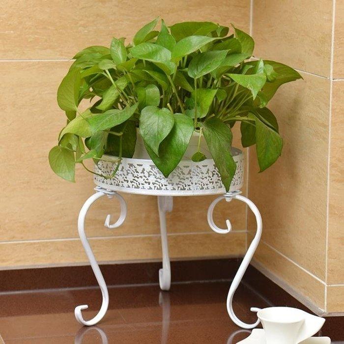 花架 歐式花架鐵藝陽台綠蘿花架落地式室內客廳吊蘭花盆架子