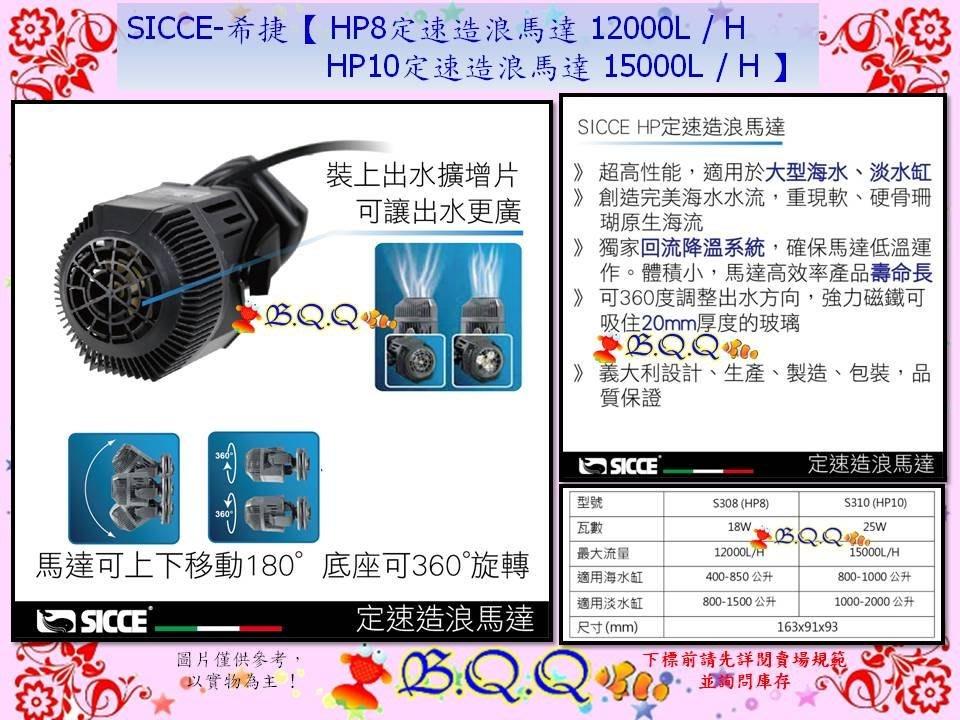 [B.Q.Q小舖](免運)義大利SICCE-希捷【HP8定速造浪馬達 12000L / H】