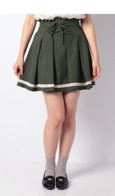 【WildLady】 日本優雅氣質蕾絲花邊綁帶a字褲裙 裙褲axes