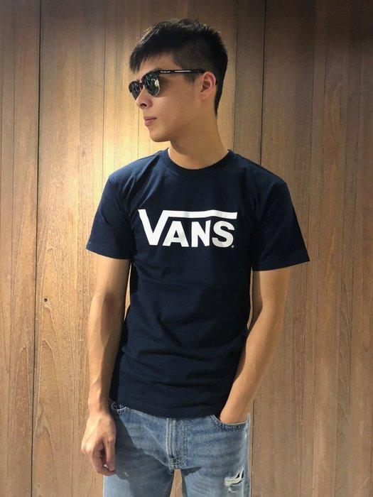 美國百分百【全新真品】VANS T恤 T-shirt 短袖 卡車 滑板 潮流 logo 深藍 上衣 M L號 G738