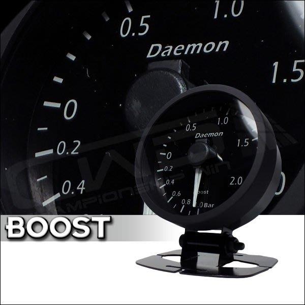 ☆光速改裝精品☆ Daemon 60mm  增壓錶 渦輪表 (紅白變色-遙控器版)