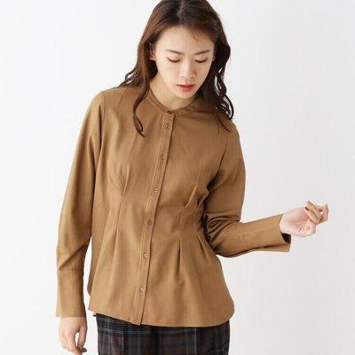【WildLady】 日本時髦氣質 顯瘦自然皺褶純色襯衫 上衣OPAQUE.CLIP