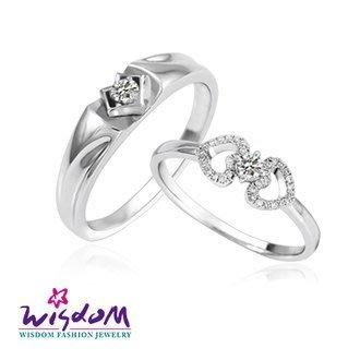 威世登 天然鑽石《心動系列》攜手永恒 鑽石對戒 男戒- 韓風設計-JDA03235B-BADXX