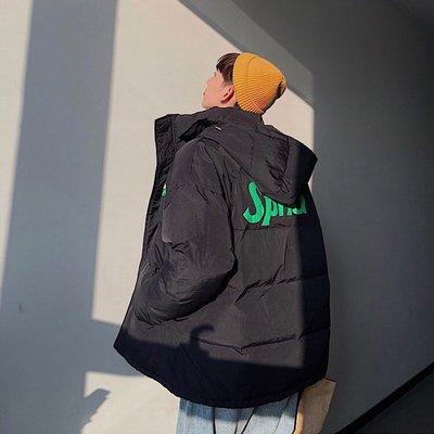 【柒姐姐】韓版oversize寬松連帽加厚棉服外套男冬季青年短款時尚百搭棉衣潮