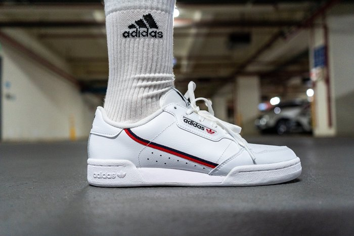 【A-KAY0】ADIDAS CONTINENTAL 80 WHITE RED 皮革 白黑紅【G27706】