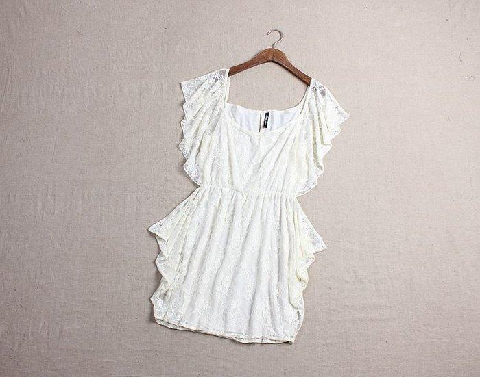 ☆°╮VS流行館╭°☆歐洲進口時尚品牌VIVI雜誌推薦◎高級蕾絲性感小洋裝(10元出清運費可合併)