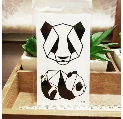 【萌古屋】熊貓熊 - 男女防水紋身貼紙刺青貼紙 T-054