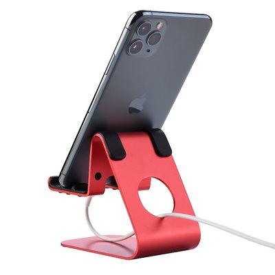 Jokitech 桌上型手機支架 平板支架 追劇 看影片 玩遊戲 多角度調整- 紅色(現貨)