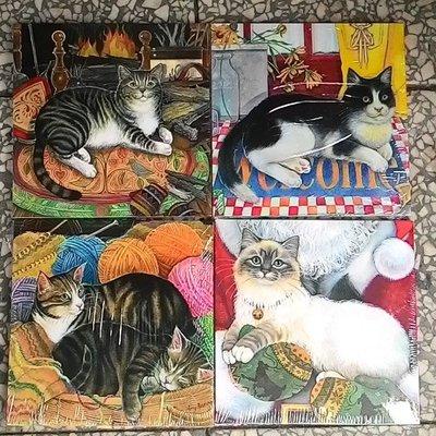~浪漫349~32款單個價無框畫 可愛寫實貓咪魚缸 毛線球南瓜貓印刷木板畫小品掛畫 18~  lt b  gt 0  lt b  gt .9~18cm