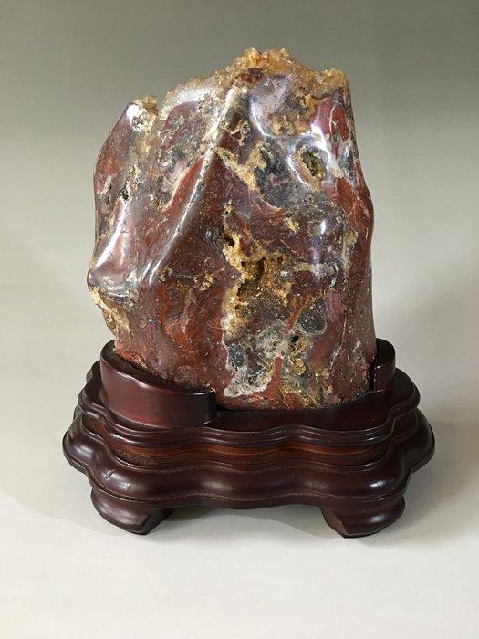 *藏雅軒*早期收藏-原礦紅晶骨幹-絕礦水晶-2540g
