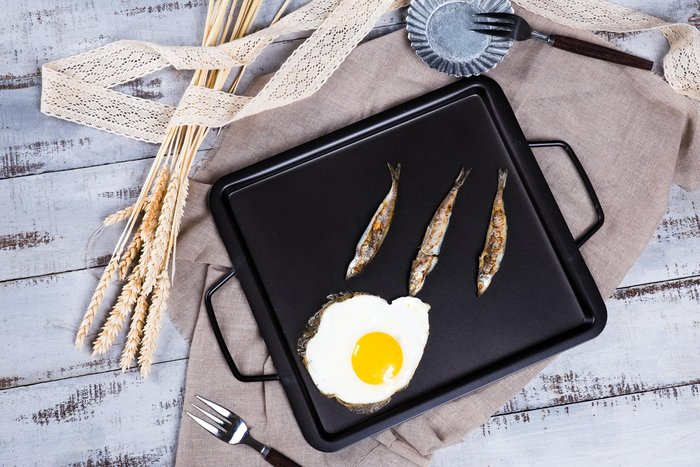 鐵板燒盤 烤皿 鐵板燒盤 鐵盤 烤盤 (27*30*2.5cm)