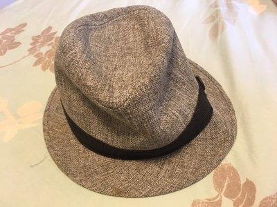 二手 九成新 牛仔帽 男 帽子 草帽 陽光 海灘 潮 灰 紳士帽 質感 好看 魯夫 漁夫帽 桃園市