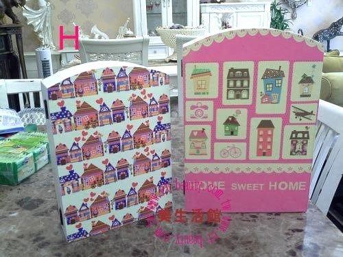 美生活館--全新鄉村生活雜貨ZAKKA ---SWEET HOME 圖案(大小兩尺寸) 鑰匙盒 KEYBOX 收納盒H