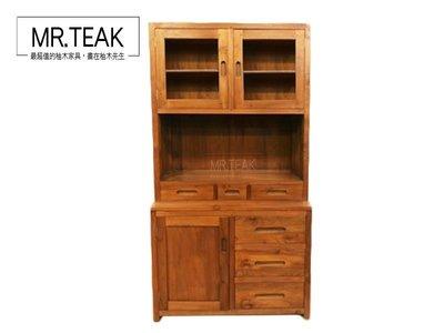 【柚木先生】印尼柚木   二老柚木三尺半餐櫃 柚木展示櫃