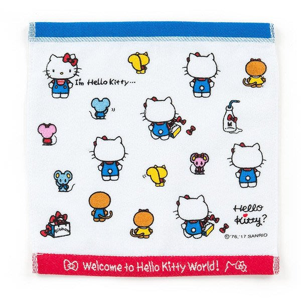 現品 日本三麗鷗 牛奶KITTY 方巾 (I'm Hello Kitty)