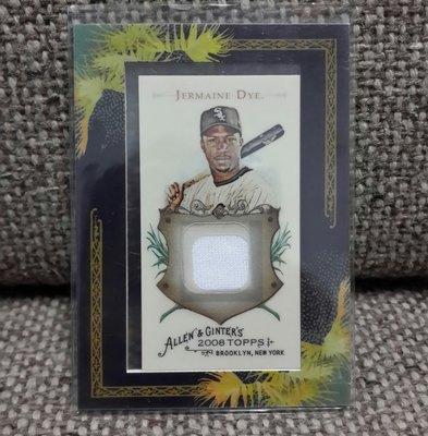 2008 JERMAINE DYE芝加哥白襪隊球衣棒球卡