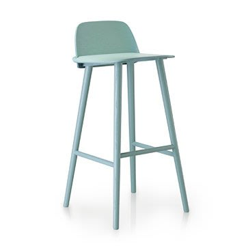 Luxury Life【預購】Muuto Nerd Bar Stool in High 書呆子 木質 高腳椅 高尺寸