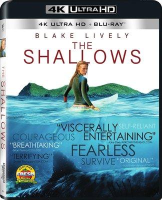 毛毛小舖--藍光BD 絕鯊島 4K UHD+BD雙碟限定版(中文字幕) Dolby Atmos音效The Shallow
