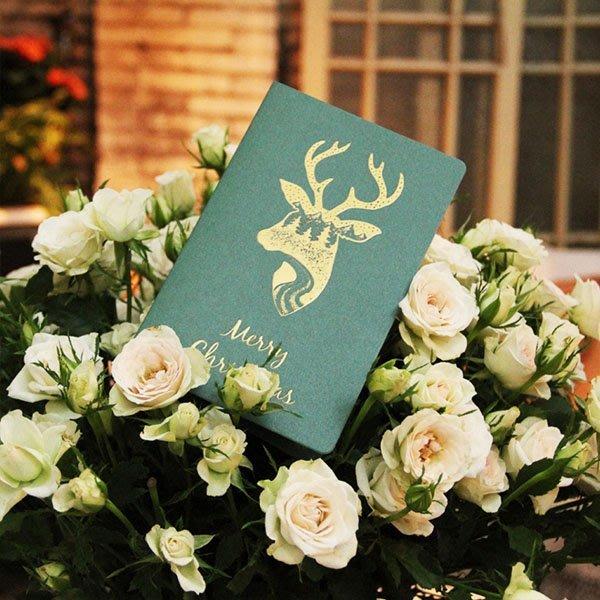 聖誕節北極熊麋鹿燙金卡片信封【XM0222】《Jami Honey》