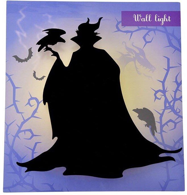 迪士尼Disney《現貨》黑魔女剪影 感應式小夜燈 壁燈(震動/聲音)~日本正品~心心小舖