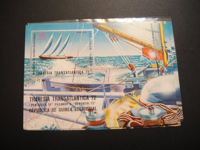 【大三元】各國專題郵票-交通類-#1 船~小全張1張~銷戳票(盒13)