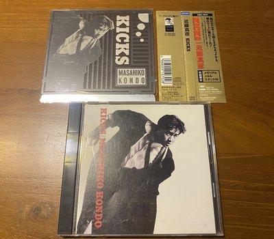 近藤真彥 KICKS  1989年 SONY 3100日幣 初回限定