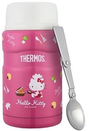 Thermos膳魔師SK3021PK Hello Kitty 不銹鋼真空保溫食物燜燒罐(附湯匙)寄海外