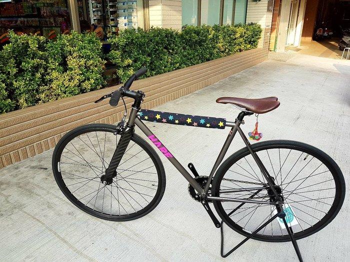 ☆樂多單車社Fixed Gear☆單速車專門店 單車 自行車 單速車 鋼管車 上管套 上管保護套 保護套 (彩色星星)