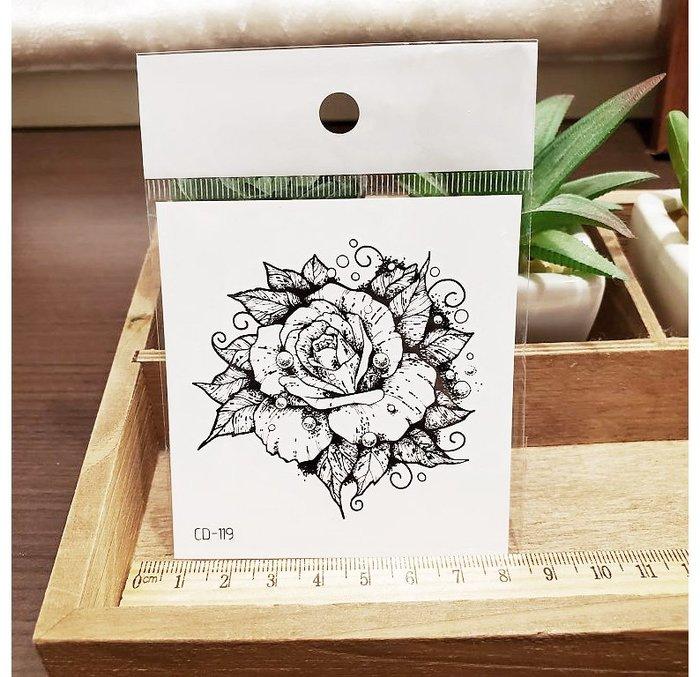 【萌古屋】】珠寶玫瑰 - 手背防水紋身貼紙刺青貼紙CD-119 K12