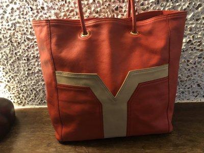 YSL全皮手提袋