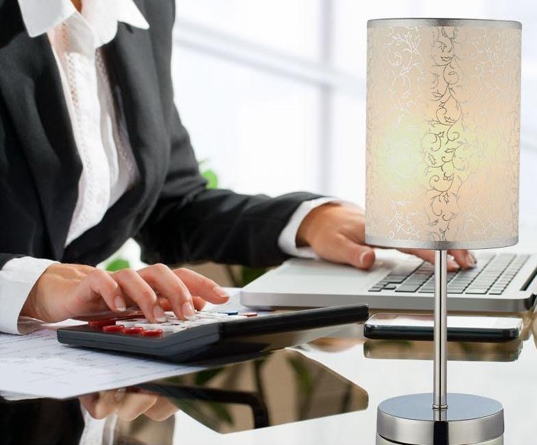 【老馬LED禮品店】銀藤簡約時尚檯燈 現代布藝燈飾 書房桌燈 床頭櫃燈 客廳燈