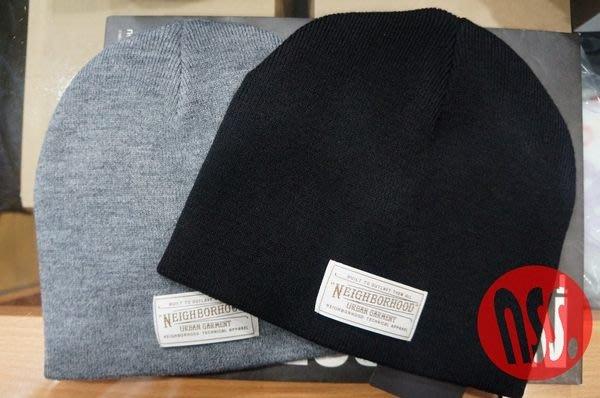 特價「NSS』NEIGHBORHOOD 13 BEANIE / AW-CAP 黑 灰 羊毛 毛帽