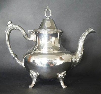 408高級美國鍍銀壺 Vintage Silverplate Ornate 8.5吋×10吋