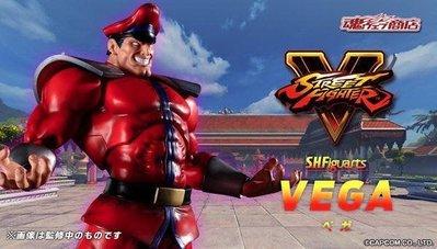 全新 行版 魂限 SHF 街霸 SFV VEGA Street Fighter 街頭霸王 快打旋風 赤目司令 域加 司令 M. BISON