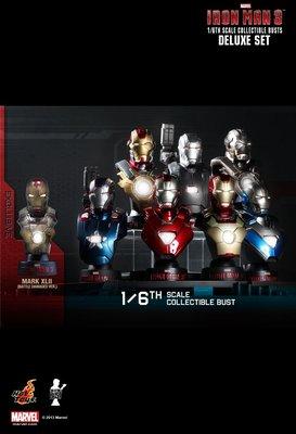 全新啡盒未開封 Hottoys Ironman 3 Collectible Bust Deluxe Set Series 1 半身像 半胸像 Hot Toys