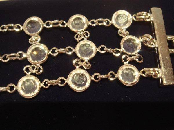 全新從未戴過的斯華洛斯奇水晶 Swarovski 銀色手鍊,只有一件,低價起標無底價!本商品免運費!