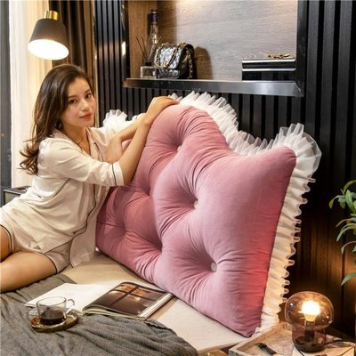 韓式床頭靠墊公主風抱枕大靠背臥室靠枕床上靠背墊可拆洗床靠