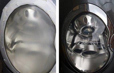大燈快潔 Mini 迷你 5-Door Cooper Cabrio Clubman 原廠大燈泛黃霧化拋光翻新處理