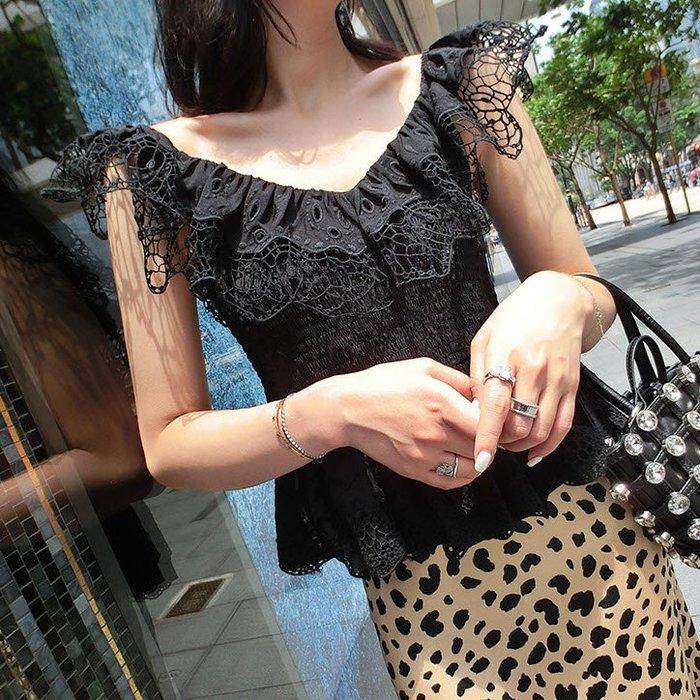 《巴黎拜金女》仙的蕾絲上衣心機襯衫氣質蕾絲打底