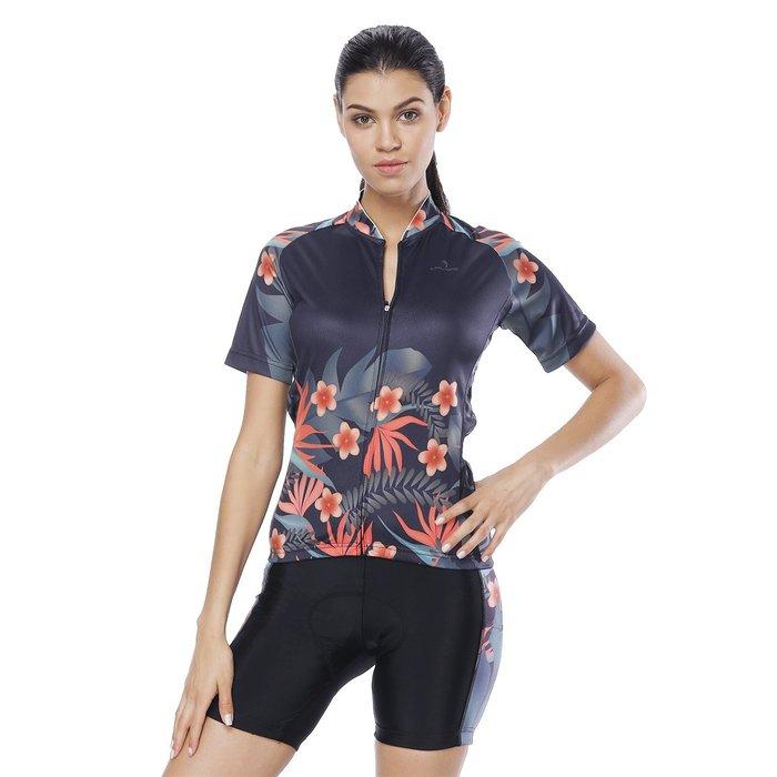 【Paladin】女款短袖車衣褲套裝 :: 叢林花
