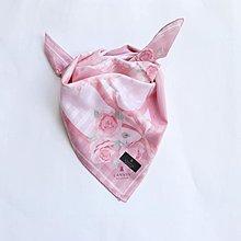 (QQ) 購自日本 日版 Lanvin 可手洗 蝴蝶結 花花 頸巾 披肩 scarf 手巾 毛巾(日本製)