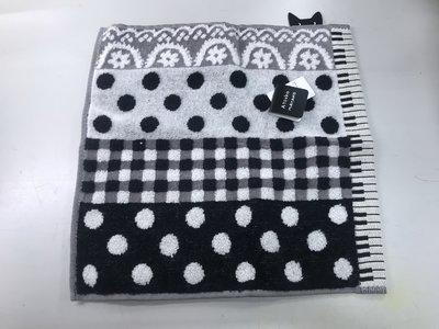 日本 ATSUKO MATANO 鍵盤小貓 圓點 小花 格紋 方巾 手帕 綿100%