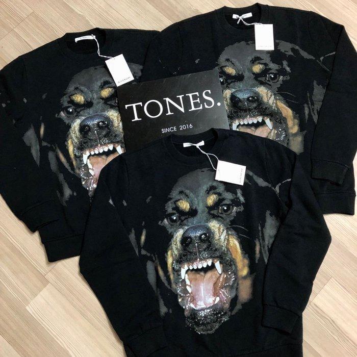 【TONES.】Givenchy 17FW  惡犬 羅威納 狗頭 衛衣 kanye west Oversize款