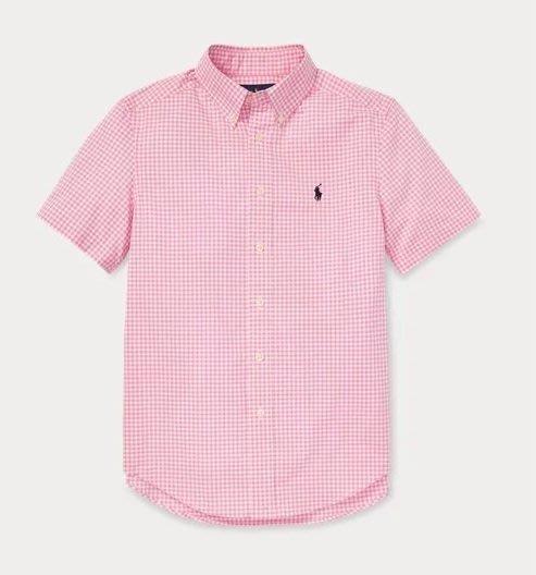 Ralph Lauren POLO 小馬 短袖 襯衫 青年款 粉色