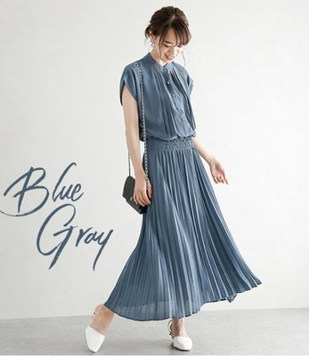 YOHO 短袖洋裝 (LC0118) 實拍日系氣質款收腰雪紡連身裙 有4色 M-L