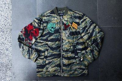 DIESEL W-CAMU 迷彩 橫須賀 刺繡 外套 夾克 全新 現貨 XS 棉 鋪棉 骷髏