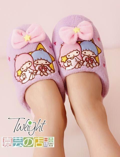 嘉芸的店 日本雙子星 little twin stars 家居室內拖鞋 日本止滑保暖室內拖鞋 地板家居拖鞋