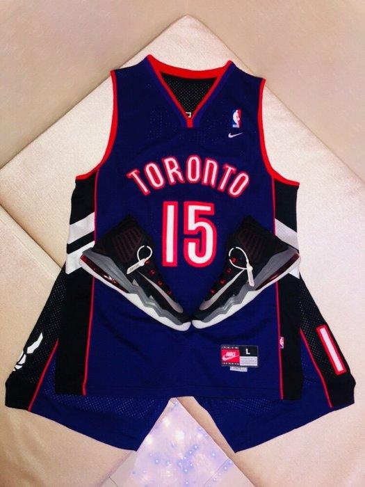 NBA 網眼電繡Toronto Raptors暴龍隊#1號15號 Vince Carter 卡特TMC麥迪 復古網眼