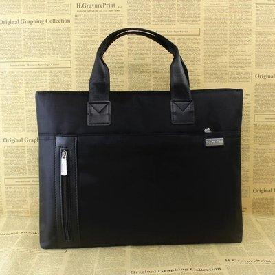 手提包男女公事包辦公文件包帆布A4多層商務會議資料收納袋 LQ6071