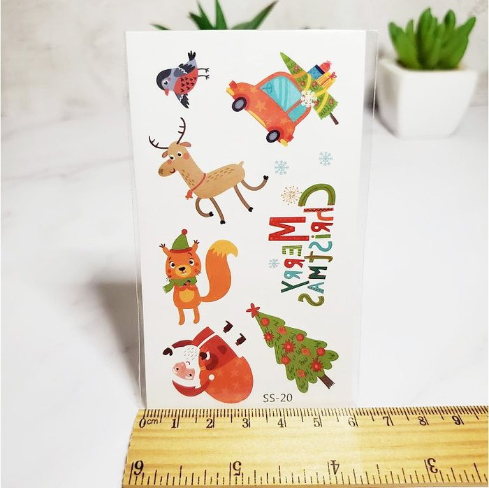 【萌古屋】聖誕節麋鹿 - 兒童卡通防水紋身貼紙刺青貼紙SS-20